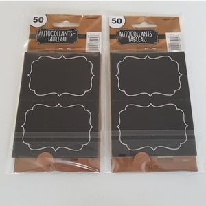 100 Chalkboard Stickers Autocollants tableau